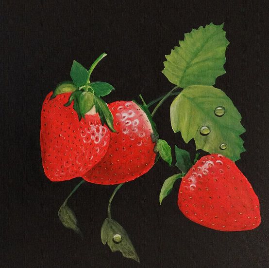 Aardbeien van Iwona Sdunek alias ANOWI