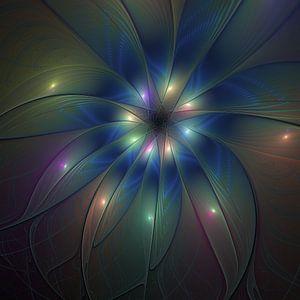 Leuchtende Fraktalkunst