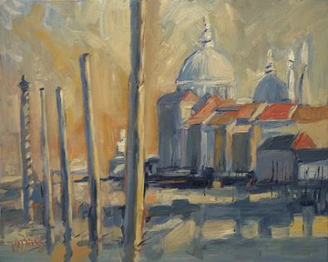 Meerpalen in Venetië van Nop Briex