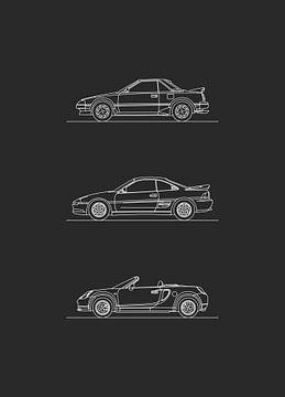 Toyota MR2 Entwicklung von Artlines Design