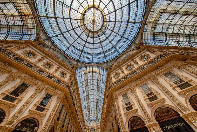 Arcade van Galleria Vittorio Emanuele II van Rene Siebring