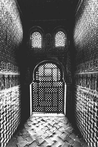 Arabeske architectuur in het Alhambra