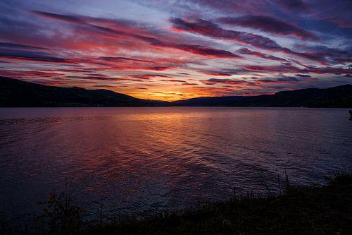 Kleurrijke zonsondergang