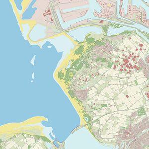 Kaart vanWestvoorne