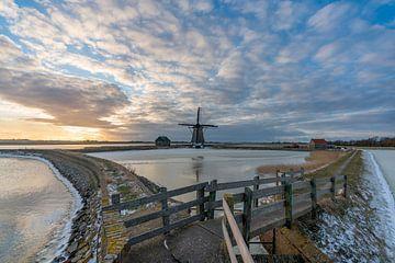 Texel winterlandschap - Molen het Noorden