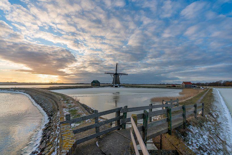Texel winterlandschap - Molen het Noorden van Texel360Fotografie Richard Heerschap