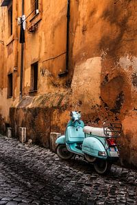 Vespa in Rome van