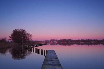 Sonnenaufgang im Herzen von Friesland von Wilco Berga