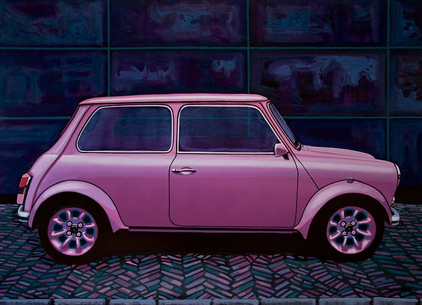 Mini Cooper Painting van Paul Meijering