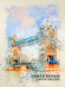 Tower Bridge van Printed Artings
