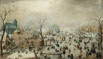 Winterlandschap met schaatsers, Hendrick Avercamp van Rebel Ontwerp