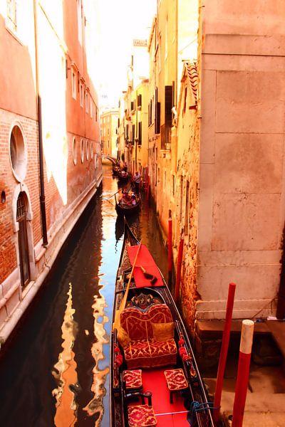 Gondalas sur le canal sur Loretta's Art