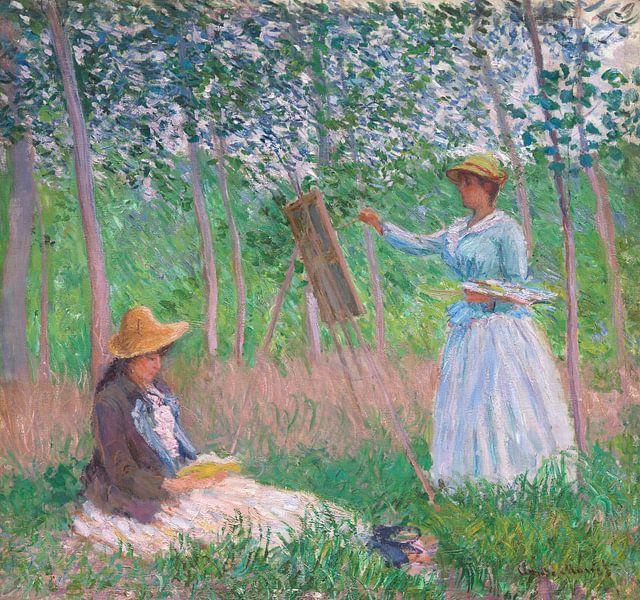 In den Wäldern von Giverny, Claude Monet von Meesterlijcke Meesters