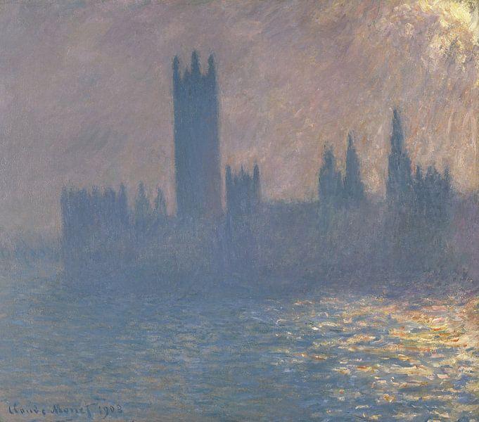 Parlamentsgebäude, Sonnenlichteffekt 1903, Claude Monet von The Masters