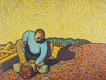 Der Holzarbeiter, Wilhelm Morgner, 1911 von Atelier Liesjes