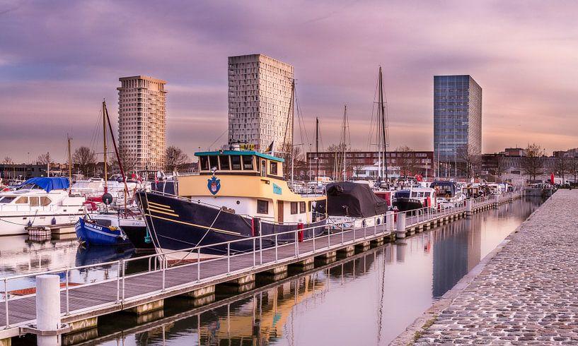 Antwerp Skyline van Tom Opdebeeck