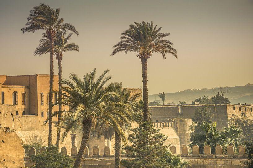 Uitzicht op citadel van Cairo in Egypte van Jille Zuidema