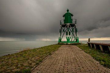 Leuchtturm von Stavoren von Wim Brauns