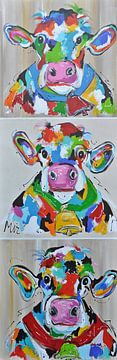 Koeien hoog van Kunstenares Mir Mirthe Kolkman van der Klip