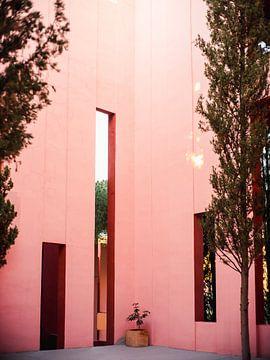 Muralla Roja Spanien | Rosa abstrakte Wände von Raisa Zwart