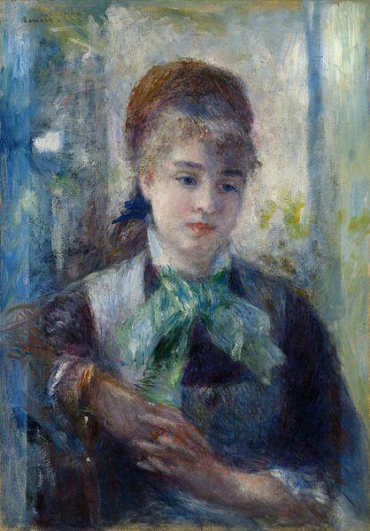 Porträt von Nini Lopez, Pierre-Auguste Renoir von Meesterlijcke Meesters