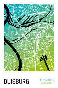 Duisburg – City Map Design Stadtplan Karte (Farbverlauf)