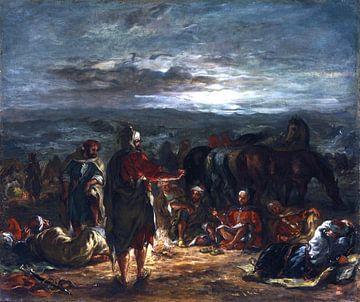 Eugène Delacroix, Ein arabisches Lager bei Nacht - 1863 von Atelier Liesjes