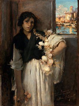 Vendeuse d'ail vénitienne, John Singer Sargent - vers 1880 sur
