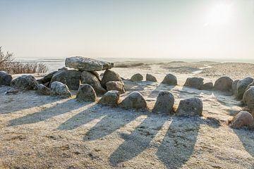 Stenen cirkel in de steentijd Harhoog in Keitum, Sylt van Christian Müringer
