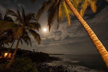 Avondopname gemaakt vanaf Punta Franca in Panama van Leon Doorn