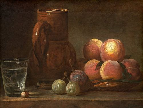 Fruit, Kruik, en een Glas, Jean Simeon Chardin