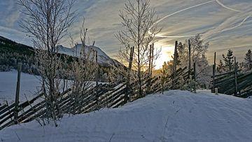 Norwegen, Sonnenaufgang van Michael Schreier