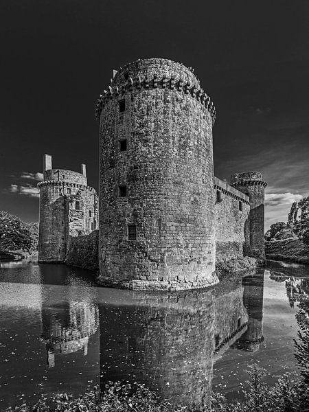 het kasteel van Hunaudaye in Bretagne, Frankrijk van Harrie Muis