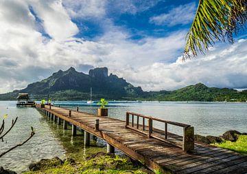 Steiger op Bora Bora van