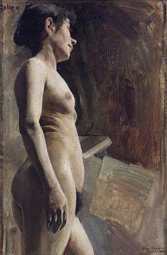 Aktmodell, Studie, Akseli Gallen-Kallela, 1885 von Atelier Liesjes