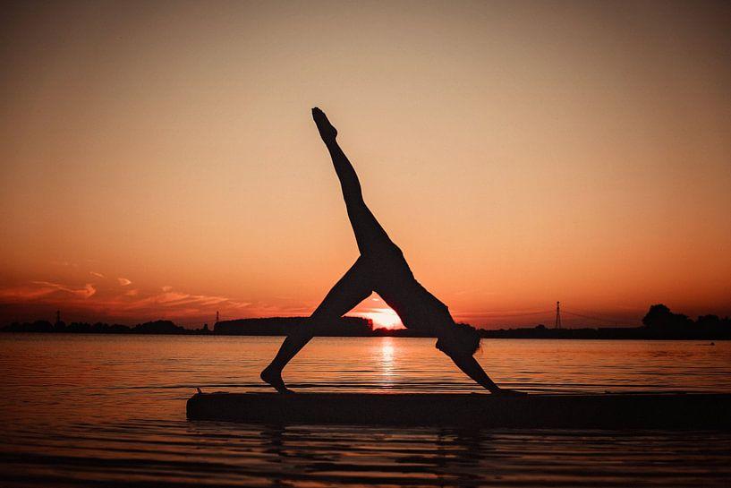 Yogapose als silhoutte van Mijke Bressers