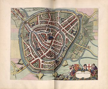 Amersfoort, Stadsplattegrond Joan Blaeu 1652 van Atelier Liesjes