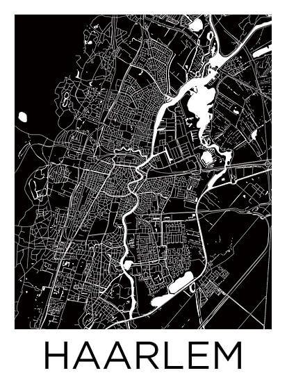 Haarlem | Stadskaart ZwartWit