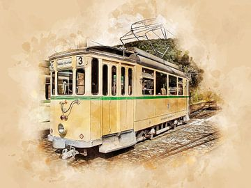 Historische Straßenbahn von Peter Roder