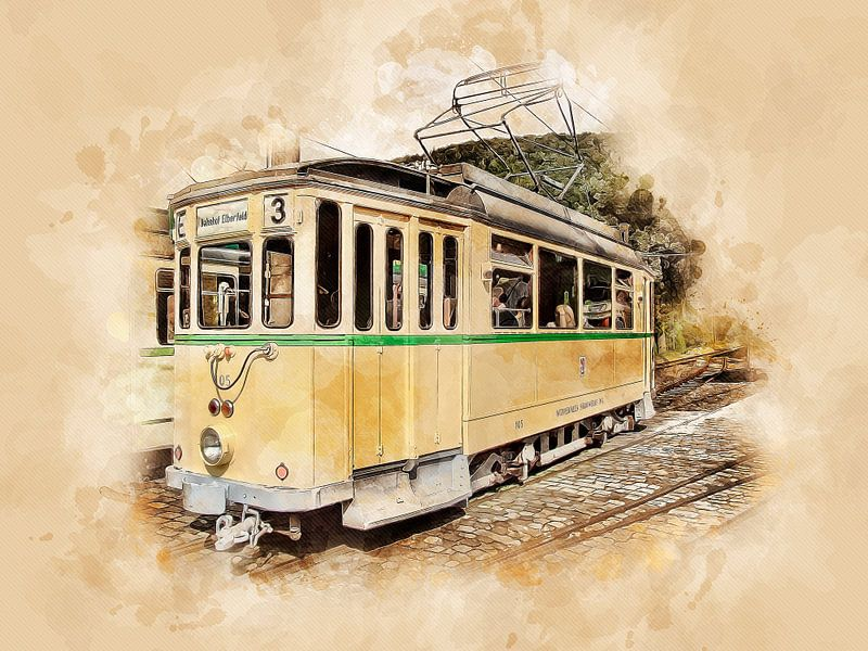 Historische tram van Peter Roder