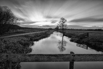 Long Exposure Zonsondergang Landschap Leek van R Smallenbroek
