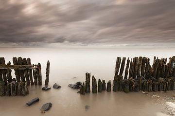 Storm over de Waddenzee van Bas Meelker
