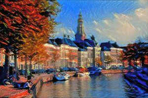 Sfeervol Schilderij Hoge der A Groningen