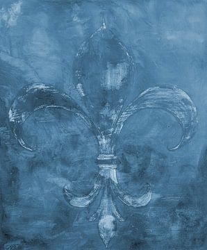Abstracte achtergrond: Franse Lelie van Sigrid Klop