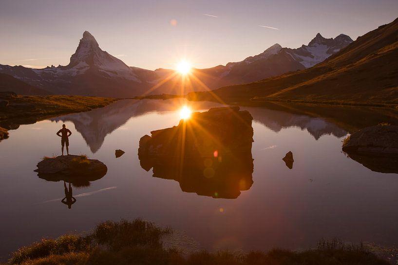 Abendstimmung am Matterhorn von Menno Boermans