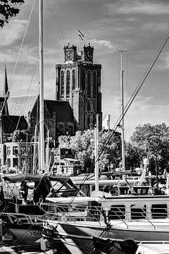 Our Lady Church in Dordrecht Niederlande Schwarz und Weiß von Hendrik-Jan Kornelis