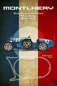 Montlhery Vintage Bugatti von Theodor Decker