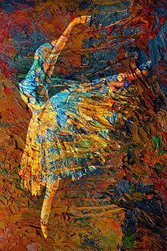 Hommage an Edgar Degas von Harry Hadders