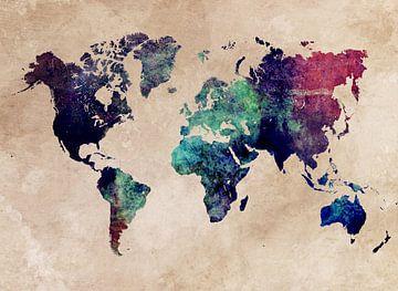 Weltkarte 45 #Karte #Weltkarte von JBJart Justyna Jaszke