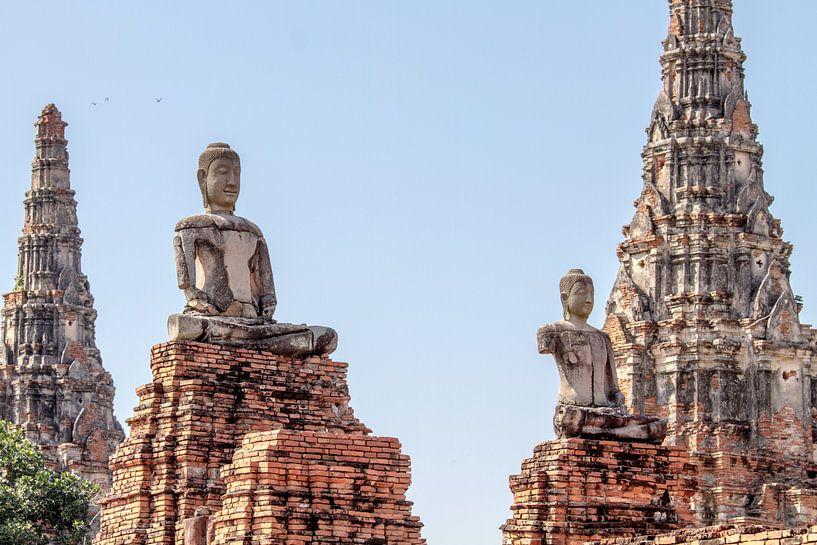 Statuen in Ayutthaya von Levent Weber